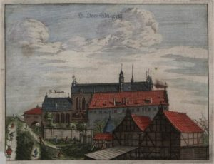 Dawny klasztor franciszkański. [w:] R. Curicke, Der Stadt Danzig historische Beschreibung, 1687.