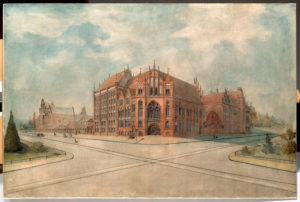 Karl Kleefeld's (?) project of the Library building in 1900-1905.