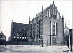 Biblioteka od strony dziedzińca, 1905 r.