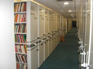The storage area of the new building of the Library.