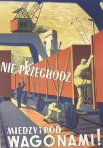 Fot. 11. Plakat BHP autorstwa Wincentego Lewandowskiego, 1953 rok.