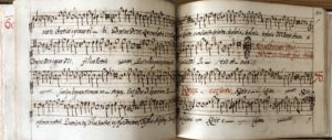 Fot. 3. Śpiewy mszalne Missa super cantate domino Matthaei Asulae w zbiorze Sammlung von Messen und geistlichen Gesängen, XVI/XVII wiek.