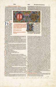 Fot. 4. Herby pruskich rodzin szlacheckich von Loseinen i von Pfeilsdorf jako znaki własnościowe w incipicie dzieła prawniczego Corpus iuris civilis, Wenecja: Baptista de Tortis, 23 XII 1494.